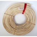 2,25 mm Peddigrohr 500g natur rotband auf der Rolle