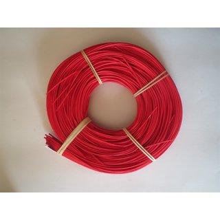 3,0 mm Peddigrohr 500g rot rotband auf der Rolle