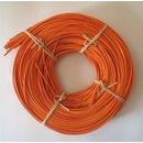2,25 mm Peddigrohr 500g orange rotband auf der Rolle