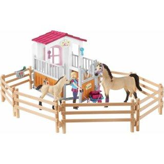 HC Pferdebox m Arabern u Pferdepflegerin (43256211)