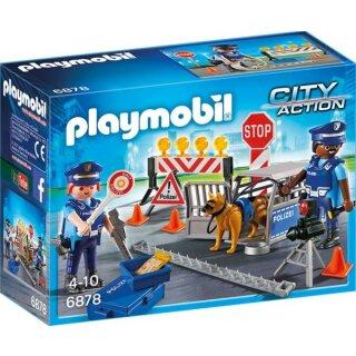 Polizei-Straßensperre