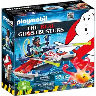 PLAYMOBIL Ghostbusters 9387 Zeddemore mit Aqua Scooter, Schwimmfähig, Ab 6 Jahren (ABVK)