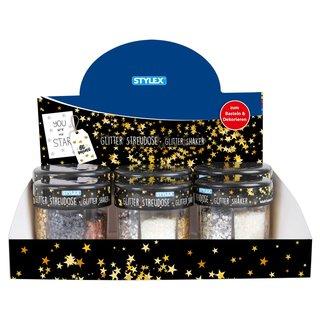 Glitter-Streudeko, 6 verschiedene Dekore, im Display