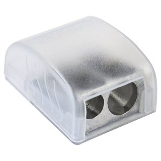 Doppelspitzer mit transparenter Auffangbox