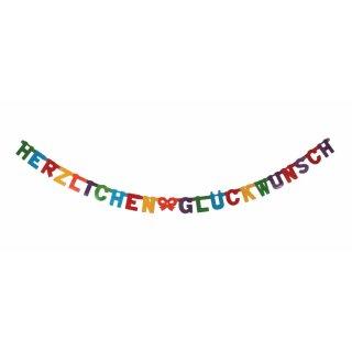 """Buchstabenkette """"Herzlichen Glückwunsch"""""""