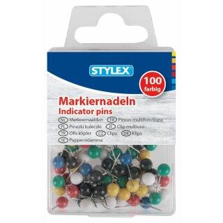 Markiernadeln, farbig, 100er Schachtel