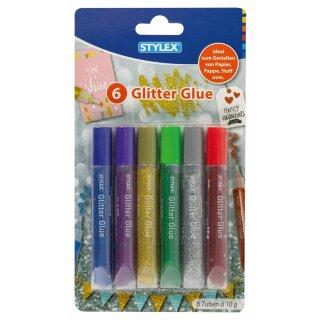 Glitter Glue, 6 Tuben à 10 g