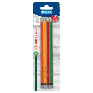 Bleistifte ohne Radiergummi, FSC, 4 Stück