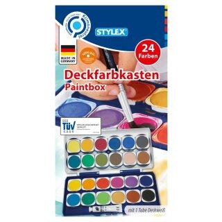 Deckfarbkasten, 24 Farben