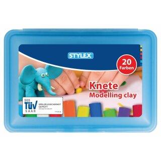 Knete, 20 Stangen in der Box, farbig