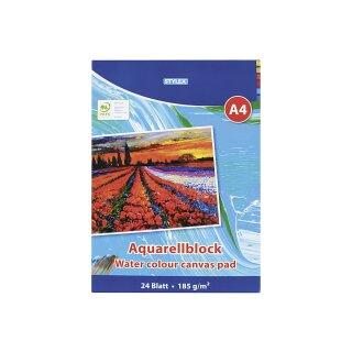 Aquarellblock DIN A4, 185 g/m², 24 Blatt