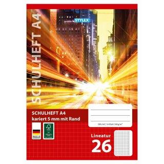Schulheft, Lineatur 26, DIN A4, 16 Blatt, FSC