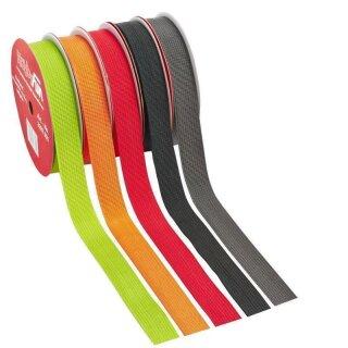Gurtband 25 mm, Rol. à 10 m, schwarz