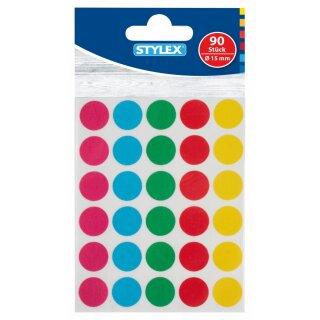 Markierungspunkte, farbig, Ø 15mm, 90 Stück