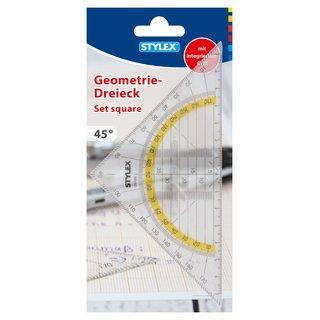 Geometriedreieck, mit Griff, 16 cm