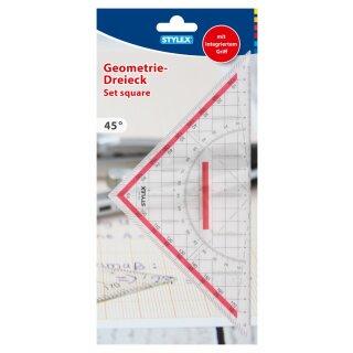 Geometriedreieck, mit Griff, 22 cm