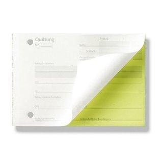 Quittungen, DIN A6, 2 x 40 Blatt, FSC