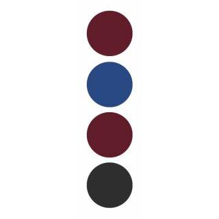 Bewerbungs-Set, schwarz und blau sortiert