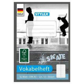 Vokabelheft, Lineatur 53, DIN A5, 32 Blatt, FSC
