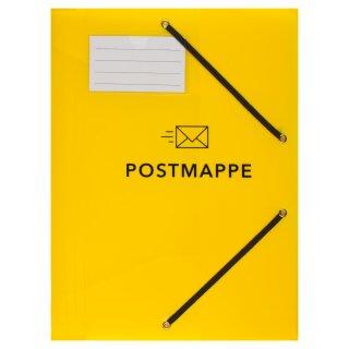 Postmappe, DIN A4, mit Gummizug, PP
