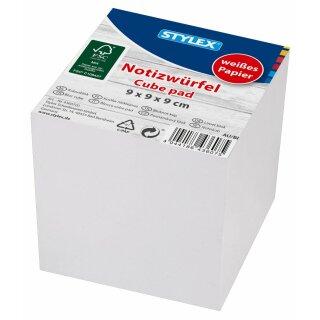 Notizwürfel, 9 x 9 x 9 cm, weiß, FSC