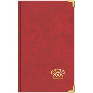 Adress- und Telefonbuch mit Messingecken