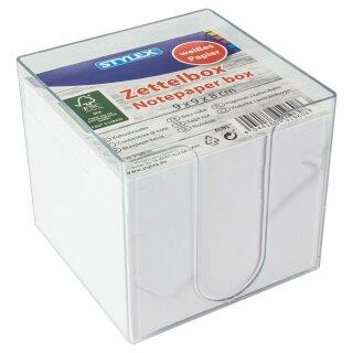 Zettelbox, weißes Papier, FSC