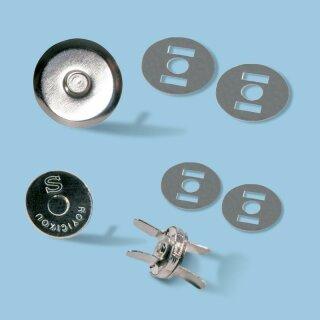TRENDYbag Mini Magnetverschluss 10 mm, silber