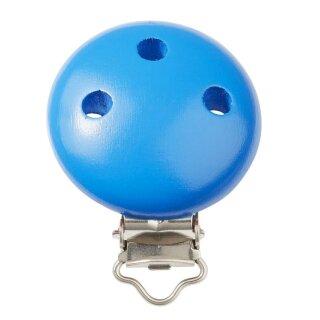 Schnulli-Ketten Clip 37 mm x 11,5 mm, blau