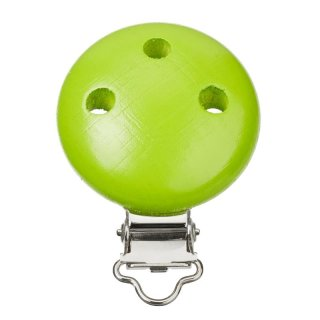 Schnulli-Ketten Clip 37 mm/11,5 mm, apfelgrün, Btl. à 1 St.