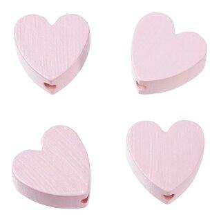 Schnulli-Herz 20 x 20 x 8 mm, DL 3 mm, rosé, Btl. à 4 St.
