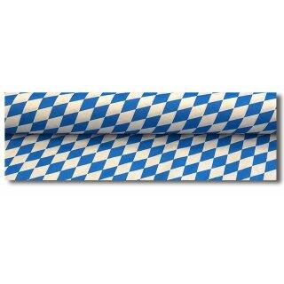 Tischtuchpapier Original,  Bayrische Rauten, 100 cm x 50 m, weiss-blau