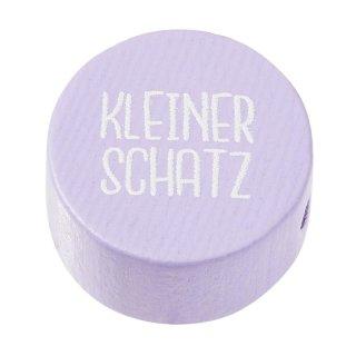 Schnulli-Scheibe Kleiner Schatz 20 x 10 mm, flieder, Btl. à 2 St.