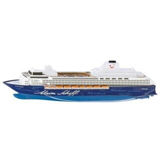 SIKU 1726, Kreuzfahrtschiff Mein Schiff 1, 1:1400, Metall/Kunststoff, Blau/Weiß, Nicht schwimmfähig (ABVK)