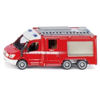 SIKU 2113, Feuerwehr Mercedes-Benz Sprinter, 1:50, Metall/Kunststoff, Rot, Öffenbare Türen (ABVK)
