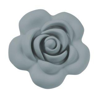 Schnulli-Silikon Rose 4 cm, grau, Btl. à 2 St.