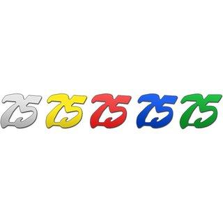 """Jubiläums-Ziffern """"75"""" 25g p,SB-Btl, -bunt sort- (ABVK)"""