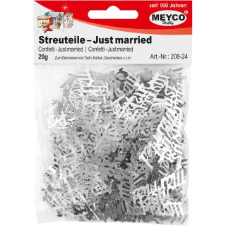 Streuteile -Just married-,  silber, 20g,