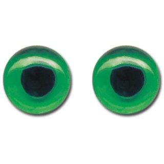 Katzenaugen aus Glas, ø 8mm, 4 Stück, grün,