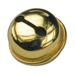 Schellen, rund, ø ca.26 mm, 4 Stück, vermessingt,