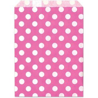 Geschenktüte, pink, Punkte, 13x16,5cm, 25 Stück,