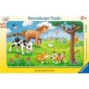 Knuffige Tierfreunde, 15 T. Rahmenpuzzles