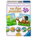 Tiere im Garten, my first puzzles - 2,4,6,8 T.