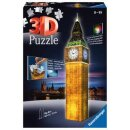 Big Ben bei Nacht, 3D Puzzle-Bauwerke