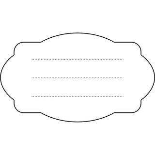 Stempel- Etikett 52 x 30 mm,