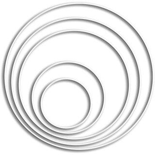 Drahtring -weiß beschichtet- / ø 20 cm,