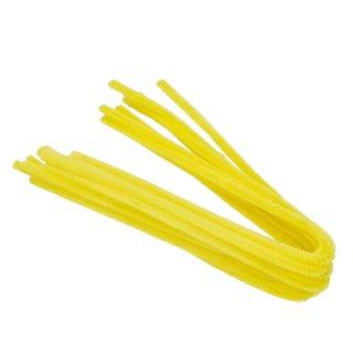 Pfeifenputzer, gelb, , ø 8 mm / 50 cm, 10 Stk.
