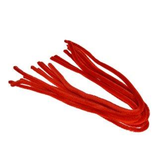 Pfeifenputzer, rot, , ø 8 mm / 50 cm, 10 Stk.