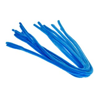 Pfeifenputzer, hellblau, , ø 8 mm / 50 cm, 10 Stk.