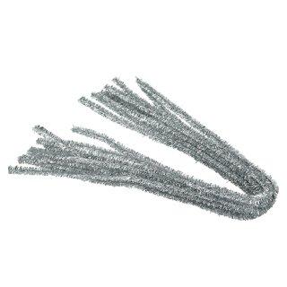 Pfeifenputzer, silber, , ø 8 mm / 50 cm, 10 Stk.